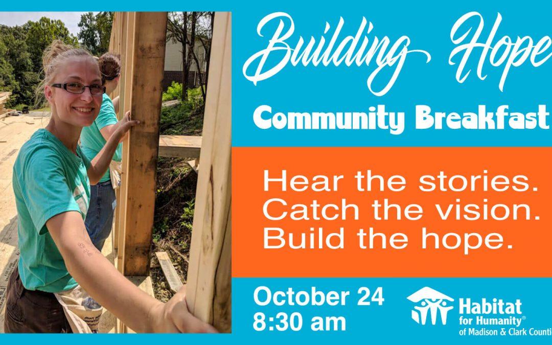 Building Hope Community Breakfast