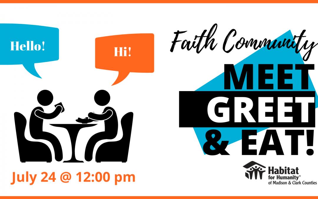 Faith Community Meet, Greet & Eat