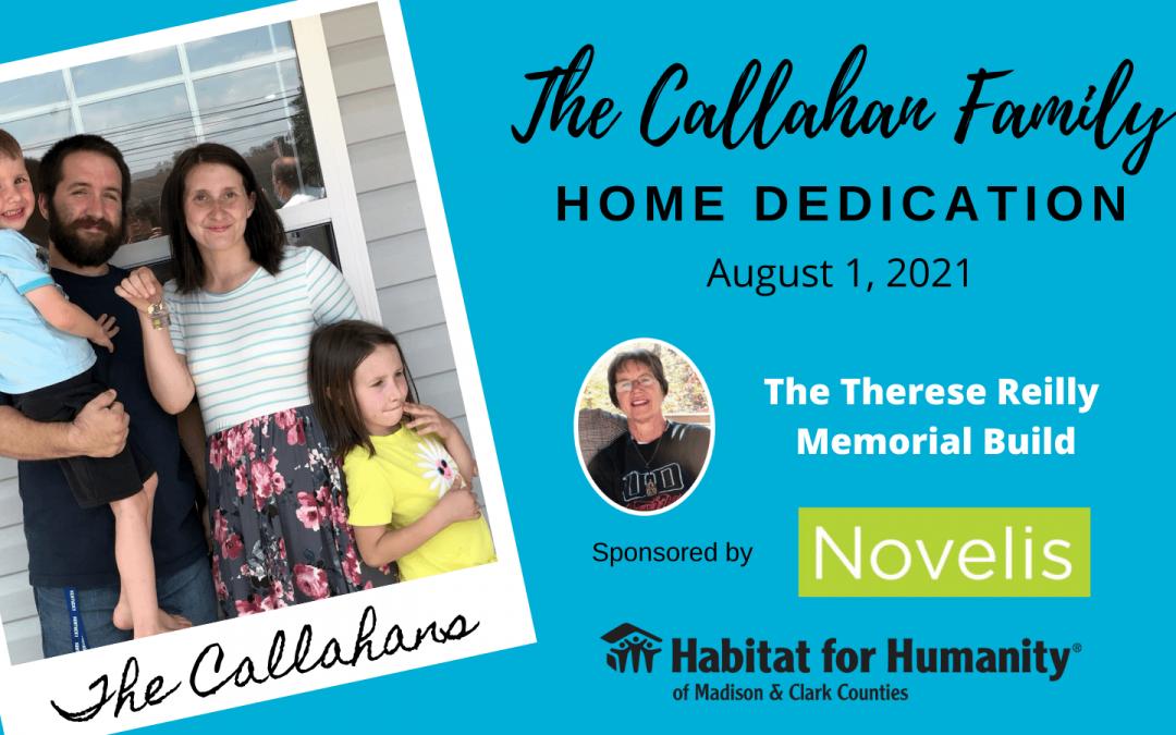 Callahan Home Dedication Highlights